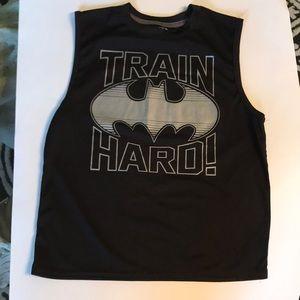Batman Train Hard Muscle t-shirt tee M workout top